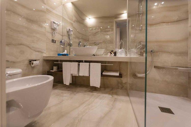 Prestige park hotel Imperial, le nuove camere 2019, bagni raffinati