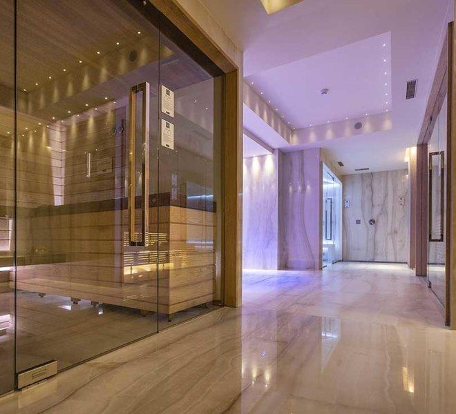 La nuova meravigliosa spa del Park Hotel Imperial, la zona saune