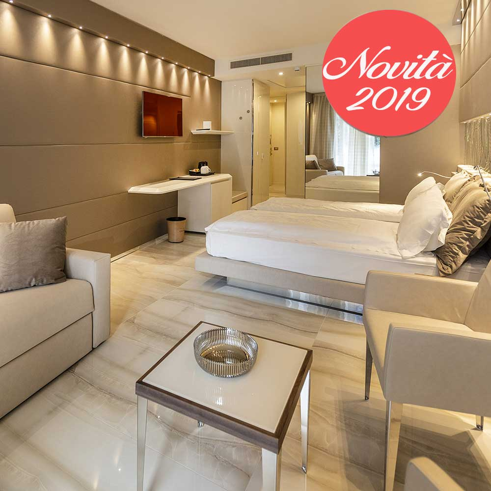 Prestige park hotel Imperial, le nuove camere 2019 ampie e raffinate
